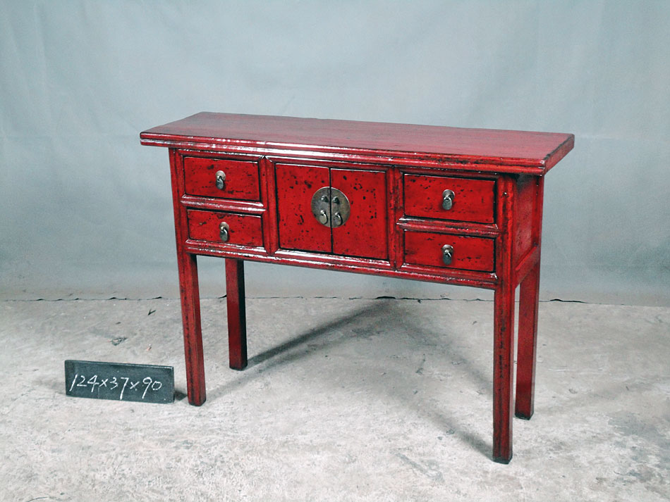 Foyer Table Red : Red hall table b best of both worlds imports and